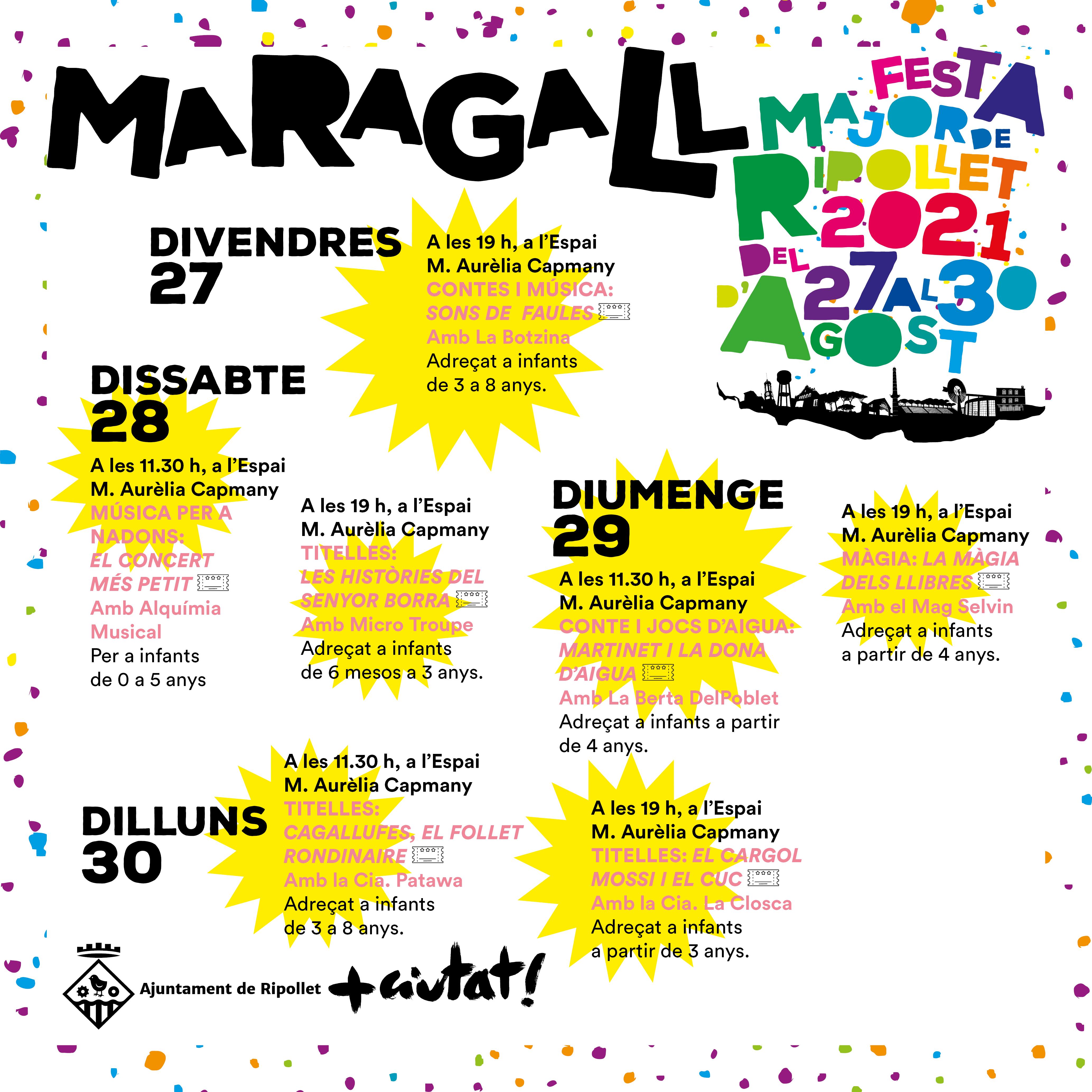 Actes destacats de la Festa Major 2021 al barri Maragall