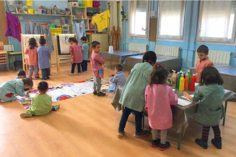 Escola Josep Mª Ginesta alumnat a classe