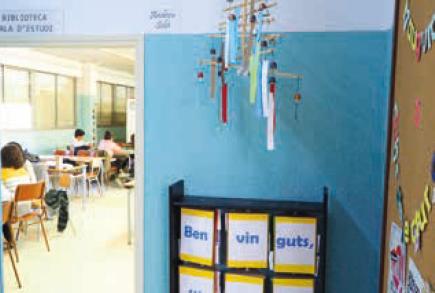 Institut Lluís Companys. Imatge de l'interior