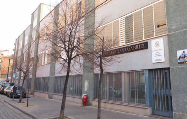 Gabrielistes-Ripollet, imatge de la façana
