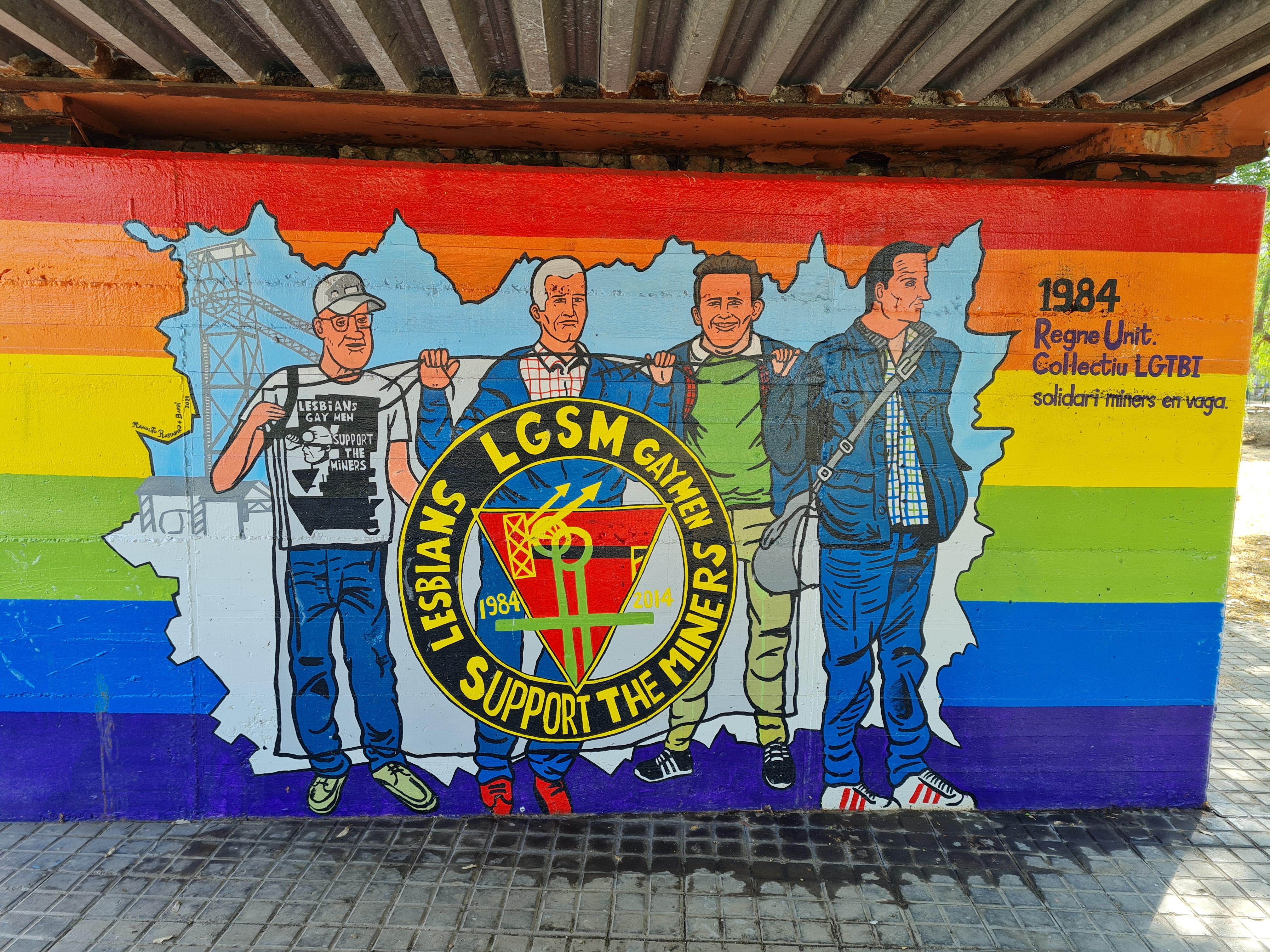 Imatge col.lectiu LGTBI solidaris amb els miners al Regne Unit