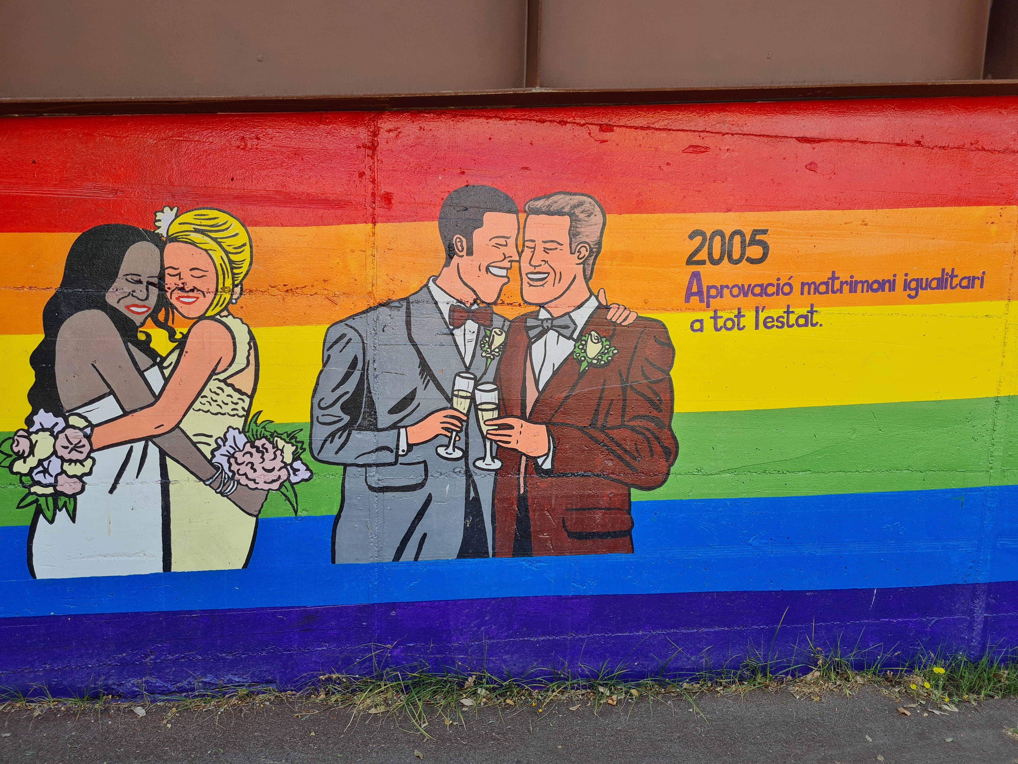 Imatge del matrimoni igualitari