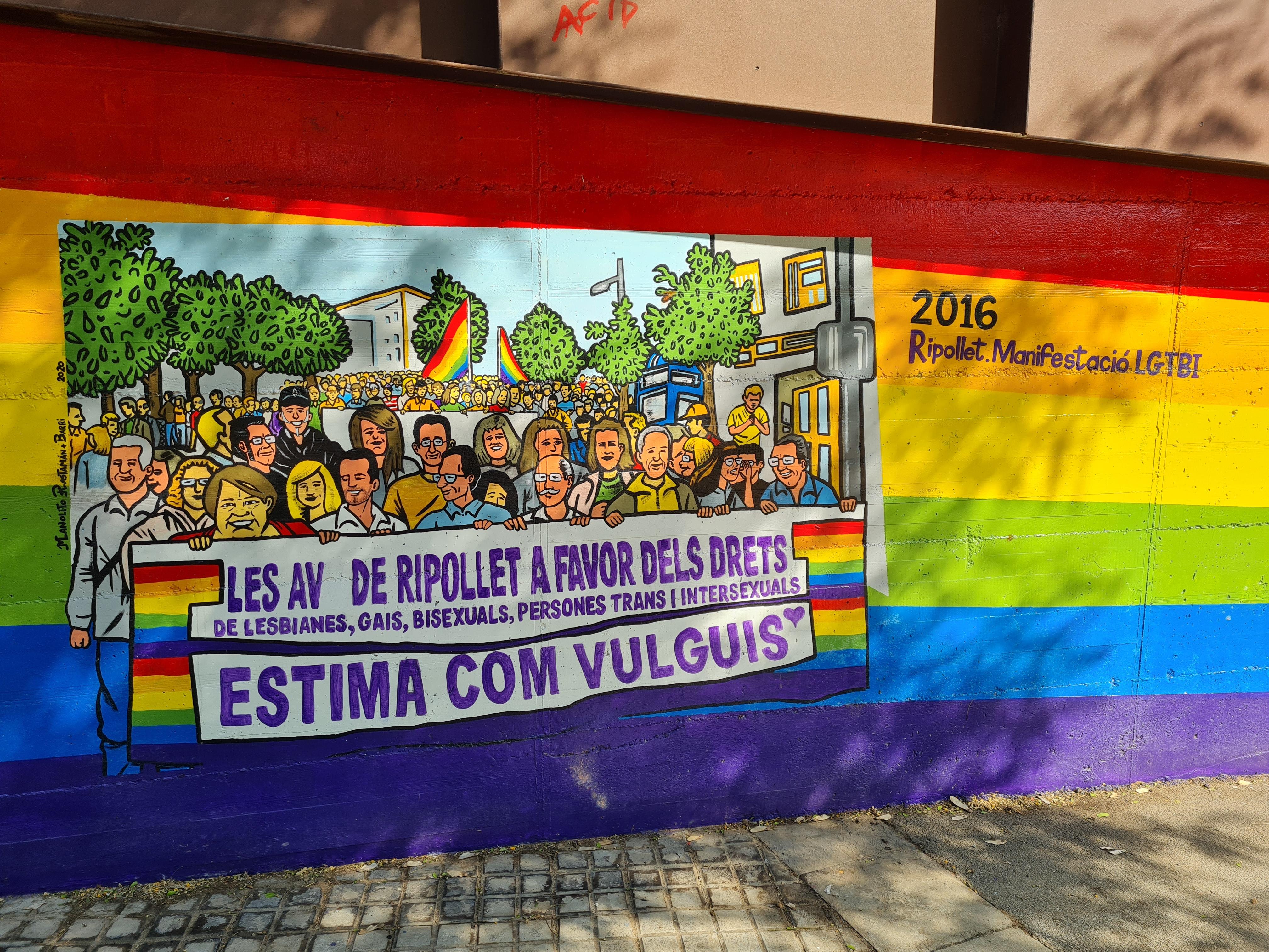 Manifestació orgull LGTBI Ripollet
